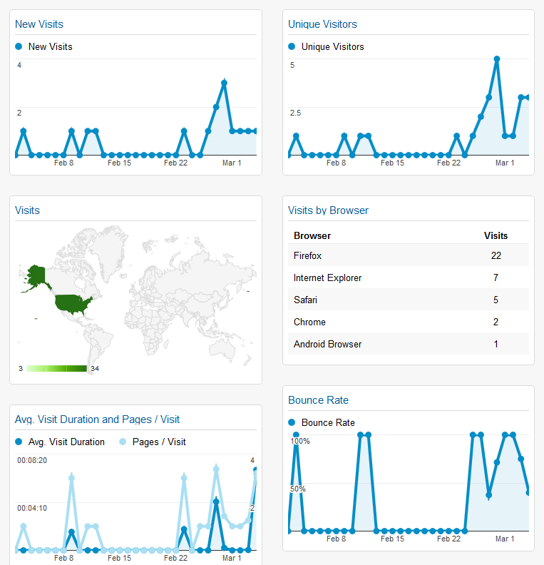 Tracking Site Popularity Google Analytics Dashboard